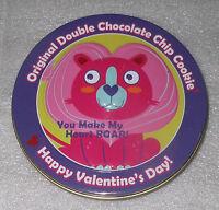 "You Make My Heart Roar Valentines Day Pink Lion Cookie Tin 4.75"" Wild Animal"