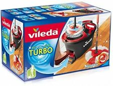 Vileda Easy Wring And Clean Turbo Mop & Bucket Set With Power Spin Wring