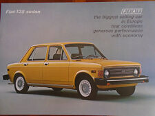 Fiat 128 Sedan brochure c1970's