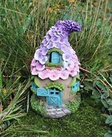 Garden Fairy Flower Roof House Solar Decorative Ornament Secret Pixie Gift