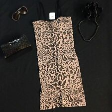 NWT $68  Sexy Free People Intimately Dress/Nighty In Animal Print XS/S.