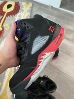 Air Jordan Retro 5 Top 3 Black Grape Fire Red Metallic Fear Bred Og Sz 8 Deal