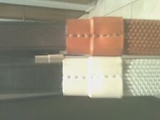 """New Leather Rubber Grip reins Made in England 3/4"""" leather (792)1 pr your choice"""