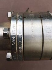 "Hastings MDC High Vacuum Research Chamber 10.5"" 4 port with vacuum gauge"
