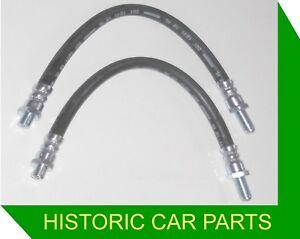 Austin Healey Sprite Mk1 1958-61 - 2 BRAKE HOSES for FRONT DRUM BRAKES