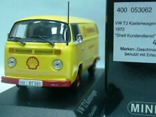 WOW EXTREMELY RARE VW T2 1.6L Box Truck 1972 Thermo Shell 1:43 Minichamps-T1/T5