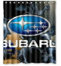 new subaru logo shower curtain 60 x 72 inch waterproof with hooks