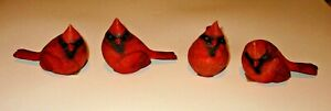 "4"" Red Cardinal Bird Figurines Long 4 Poses to Choose From"