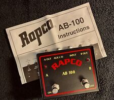 Rapco Ab-100 A/B Selector Box Dual Guitar/Amp Switch (Mint)