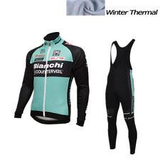 Cycling Winter Thermal Fleece Long Bianchi Jerseys Bike 2016 Ropa Ciclismo Set