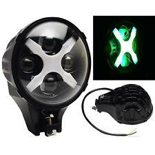 "6"" Off Road Lamp LED Green X Auxiliary Fog Spot Flood Light 6k 40w 8000 Lmn"