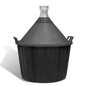 5,10,15,25,34,54L - Peasant style Demijohn in Plastic Basket + Bung and Airlock