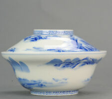 18/19th c Edo period Japanese Porcelain Lidded Bowl for Rice