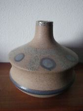 STONE TYPE VASE WITH BLUE DOTS