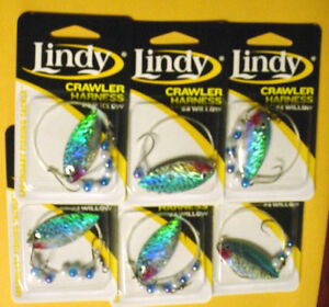 6  LINDY CRAWLER HARNESSES LSR805  #4 WILLOW BLADE-TULLIBEE