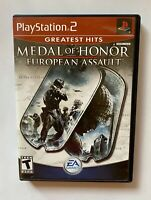 Medal of Honor: European Assault - PlayStation 2 - PS2 - Tested - Ready to Ship