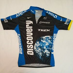 Nike Trek Discovery Channel Cycling Full Zip Jersey Adult Medium Blue Mens