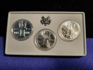 1984 USA OLYMPIC SET OF 3 UNCIRCULATED 90% SILVER DOLLARS