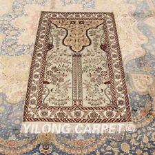 Yilong 2.5'x4' Small Hand-knotted Area Carpet Home Decor Silk Handmade Rug 127AB