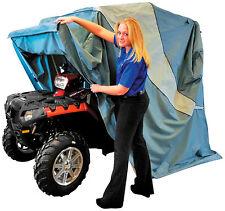 """PORTABLE GARAGE for ATV Up-to-53"""" Wide  or Touring Motorcycle TAKE-ALONG SHELTER"""