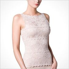 Haute Contour Spanx Lace Tank Top Sleeveless Camisole Small S $198 couture Nude