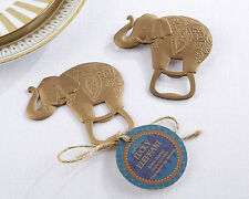24 Lucky Golden Elephant Bottle Openers Asian Theme Bridal Shower Wedding Favors
