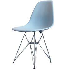 Blue Eiffel Estilo Retro de Plástico silla lateral - 6 opciones de pierna/entrega UK LIBRE