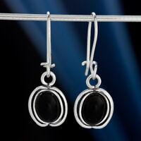 Onyx Silber 925 Ohrringe Damen Schmuck Sterlingsilber H0525