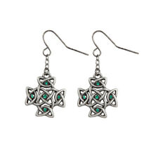 Celtic Cross Dangling Earrings Pewter Jewelry 10049
