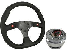 Volante deportiva F1 Negra + de liberación rápida Boss B30 Para Honda