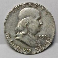 1952 US Franklin 50¢ Silver Half Dollar