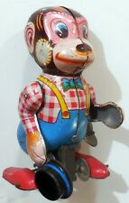 VINTAGE TIN TOY WIND UP MONKEY S.Y MADE IN JAPAN 1950-60s YONEYA YONE