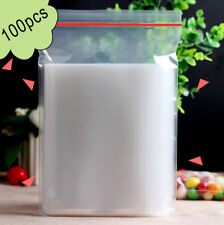 100 PCS 4 x 6cm Plastic Clear Zip Zipper Ziplock Reclosable Storage Bags zhanb