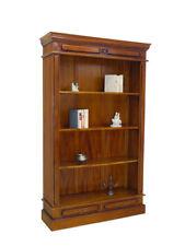 Regal Bücherregal Medienregal mit 2 Schubladen Massivholz antiker Stil (6162)