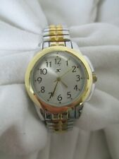 K Analog Watch with Classic Twotone Expansion Bracelet Band WORKING!