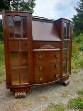 Vintage Drinks Cabinet Bureau with Drawers Gin Cupboard