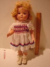 VINTAGE EFFANBEE DOLL COMPOSITION PATRICIA EYES OPEN CLOSE LASHES 14 IN RESTORE