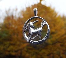 925 Silber Anhänger Einhorn in filigraner Verarbeitung Unicorn