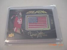 RONNIE LOTT 2009 UPPER DECK BLACK FLAG GAME USED JERSEY AUTO 32/50 SIGNED CARD