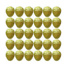 100 YELLOW GOLD CHOCOLATE SEASHELLS - WEDDING BIRTHDAY PARTIES CANDY BUFFET