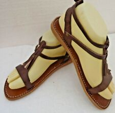 88956b6ee137 100% MOROCCAN LEATHER GLADIATOR SANDALS   BROWN   5 sizes available