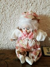 Vintage porcelain clown doll