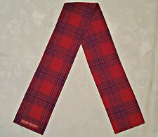 VINTAGE AUTHENTIC YVES SAINT LAURENT RED SILK DOUBLE LONG SKINNY MEN'S SCARF