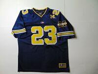 Colosseum Men L Michigan Wolverines Football Jersey Sewn Blue #23