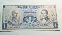Billet, Colombie, 1 Peso Oro, 1973, TTB+