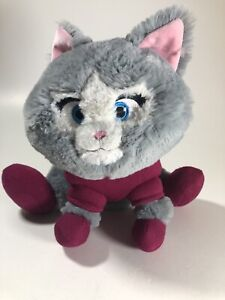 """Disney Store Olaf's Frozen Adventure Gray Kitty Cat with Sweater 10"""" Plush Cute"""