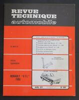 REVUE TECHNIQUE AUTOMOBILE RTA RENAULT 6 1100 5CV n°300