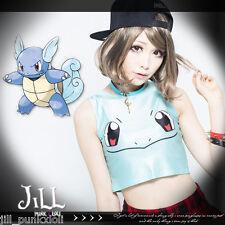 Lolita cosplay Pokemon Pocket Monsters Squirtle crop tube tank top【J1M0083】