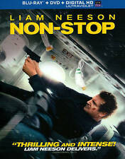 Non-Stop (Blu-ray/DVD, 2014, 2-Disc Set, Includes Slipcover) Liam Nelson