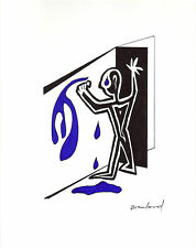 "ORIGINAL ART -- Abstract Street Art -- ""Soul Pouring"" Black, White & Blue"